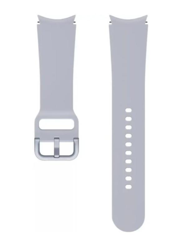 Aксессуар Ремешок для Samsung Galaxy Watch 4 / 4 Classic Sport Band 20mm S/M Silver ET-SFR86SSEGRU aксессуар ремешок samsung galaxy watch sport band pink et sfr82mpegru для active active 2