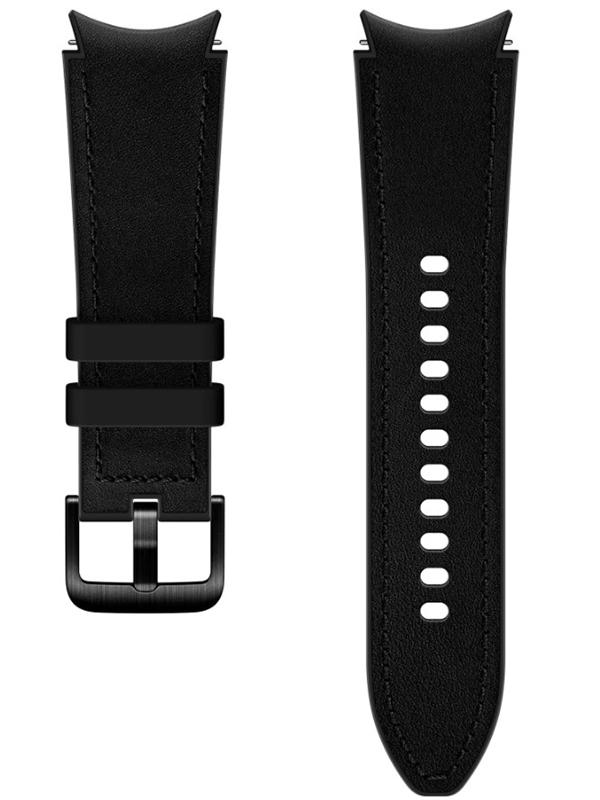 Фото - Aксессуар Ремешок для Samsung Galaxy Watch 4 / 4 Classic Hybrid Leather Band 20mm S/M Black ET-SHR88SBEGRU ремешок samsung stitch leather band для galaxy watch3 45мм watch 46мм коричневый