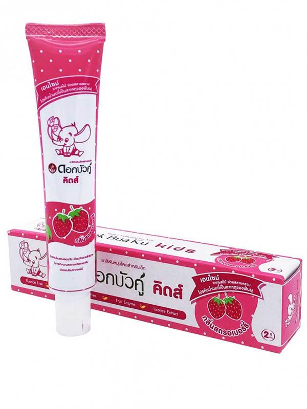 Зубная паста Twin Lotus Dok Bua Ku Kids Herbal Toothpaste for kids Strawberry Flavor 35g 17005