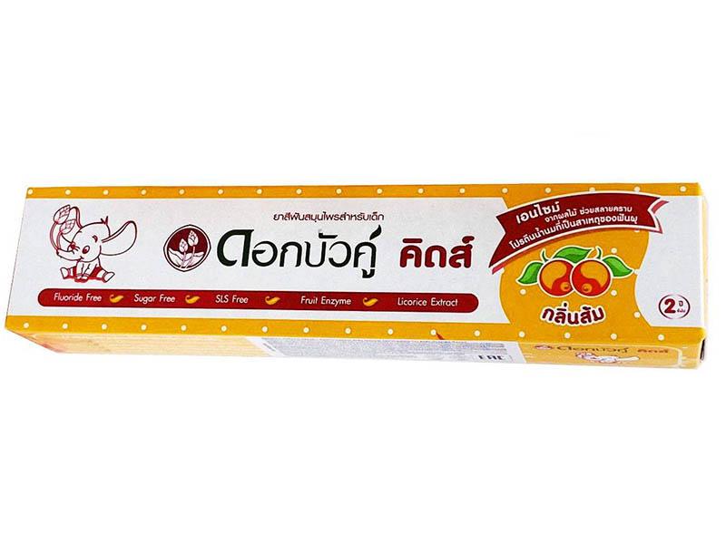 Зубная паста Twin Lotus Dok Bua Ku Kids Herbal Toothpaste for Orange flavor 35g 17043