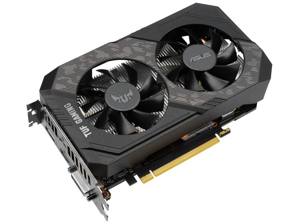 Видеокарта ASUS GeForce GTX 1660 Ti TUF Gaming EVO OC 1845Mhz PCI-E 4.0 6144Mb 12002Mhz 192 bit DVI-D 2xHDMI DP TUF-GTX1660Ti-O6G-EVO-GAMING
