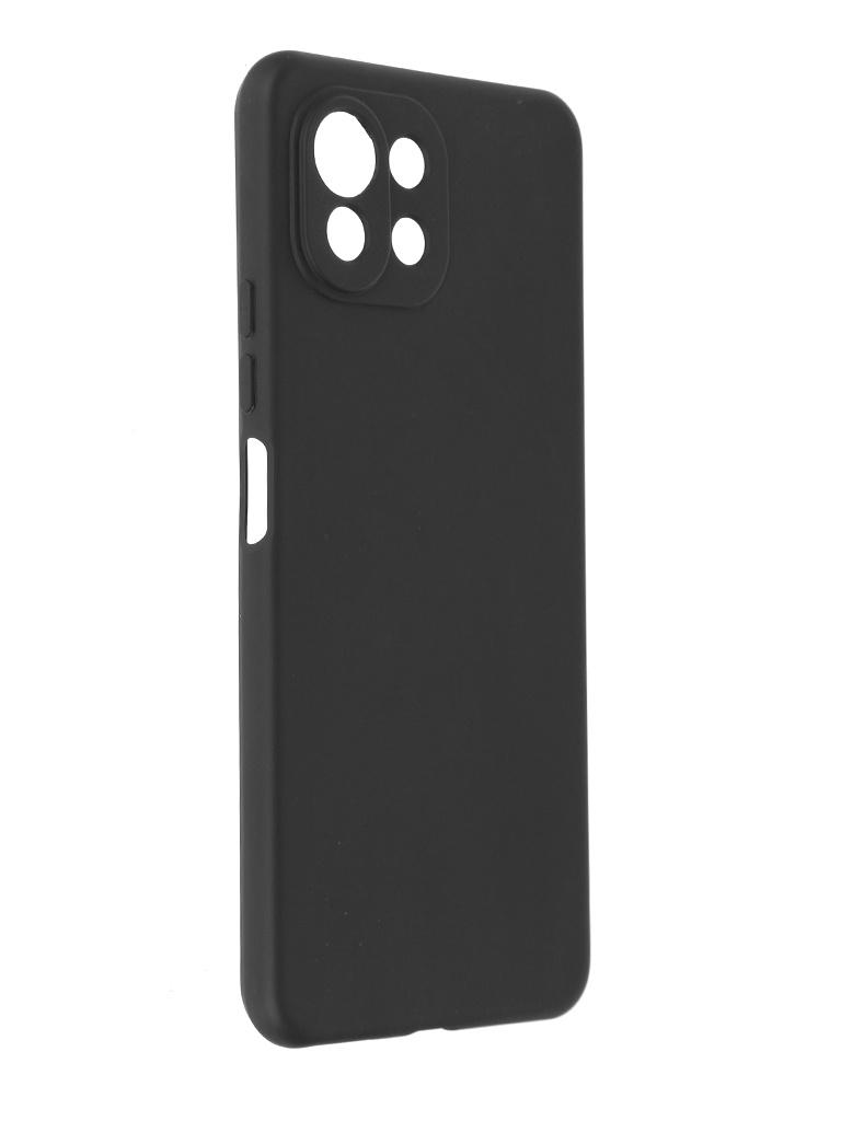 Чехол Alwio для Xiaomi Mi 11 Lite 4G / 5G Soft Touch Silicone Black ASTXMI11LBK
