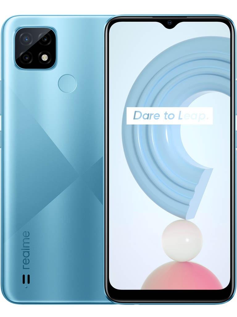 Сотовый телефон Realme C21 3/32Gb Blue & Wireless Headphones Выгодный набор + серт. 200Р!!!