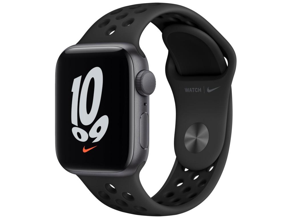 Умные часы Apple Watch SE GPS 40мм Aluminum Case with Nike Sport Band, серый космос/антрацитовый/черный