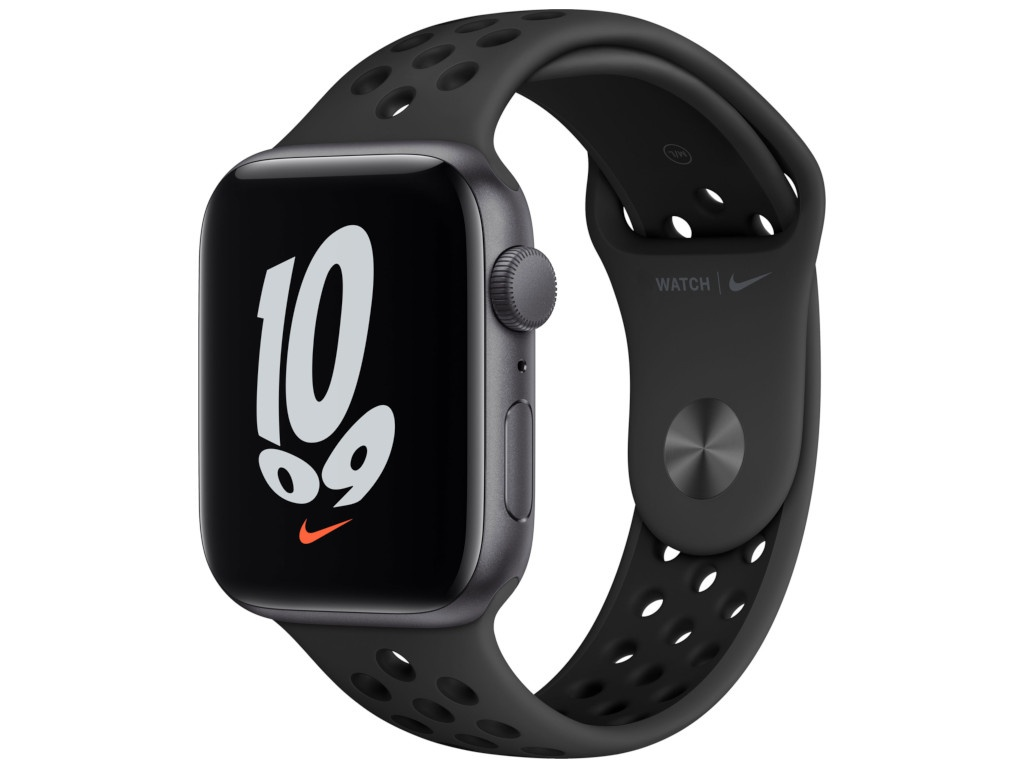 Умные часы APPLE Watch Nike SE 44mm Space Grey Aluminium Case with Anthracite/Black Nike Sport Band MKQ83RU/A