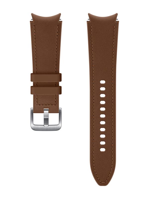 Aксессуар Ремешок для Samsung Galaxy Watch 4 / 3 Hybrid Leather Band 20mm M/L Brown ET-SHR89LAEGRU
