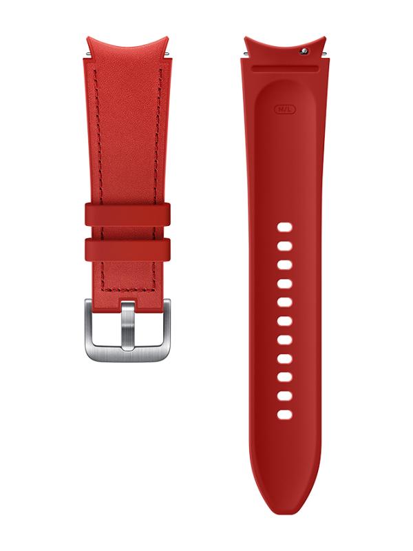 Фото - Aксессуар Ремешок для Samsung Galaxy Watch 4 / Watch 3 Hybrid Leather Band 20mm M/L Red ET-SHR89LREGRU ремешок samsung stitch leather band для galaxy watch3 45мм watch 46мм коричневый
