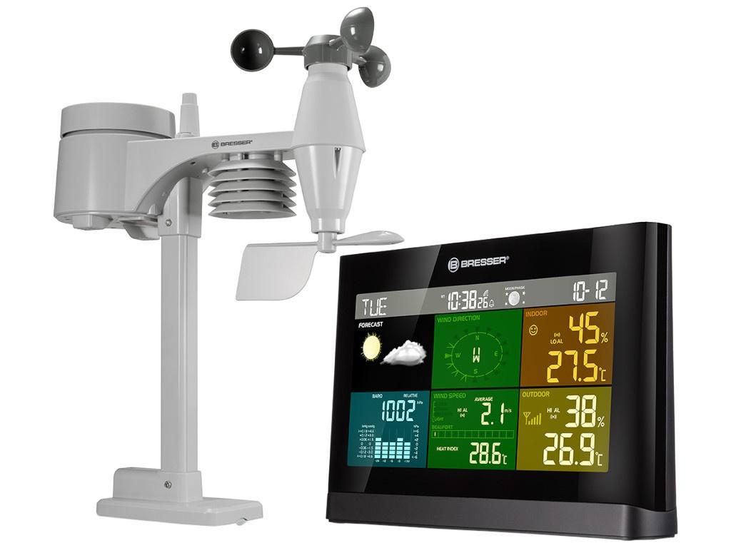 Погодная станция Bresser Weather Center 5 в 1 Comfort Colour Black 7002550CM3000 / 74652