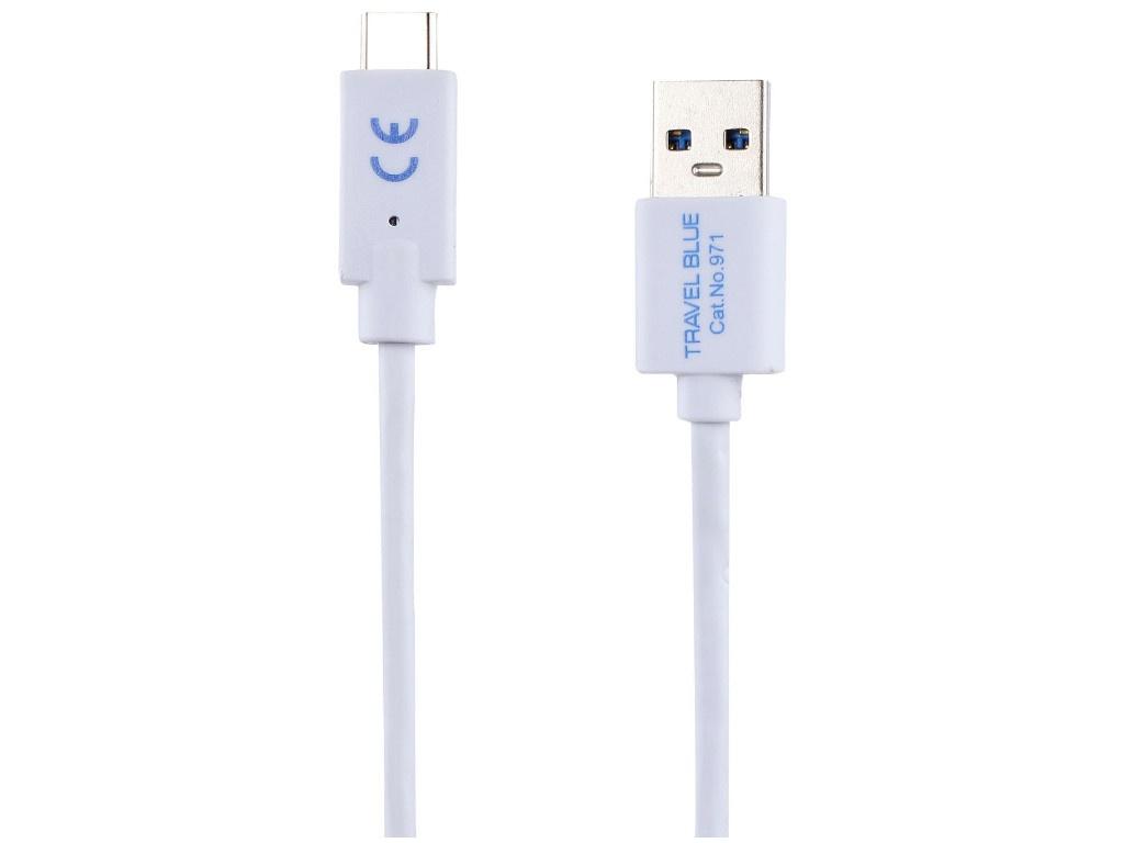 Фото - Аксессуар Travel Blue USB Type-C 1m White 971_WHT аксессуар чехол samsung galaxy a3 2017 caseguru magnetic case azure blue 99866