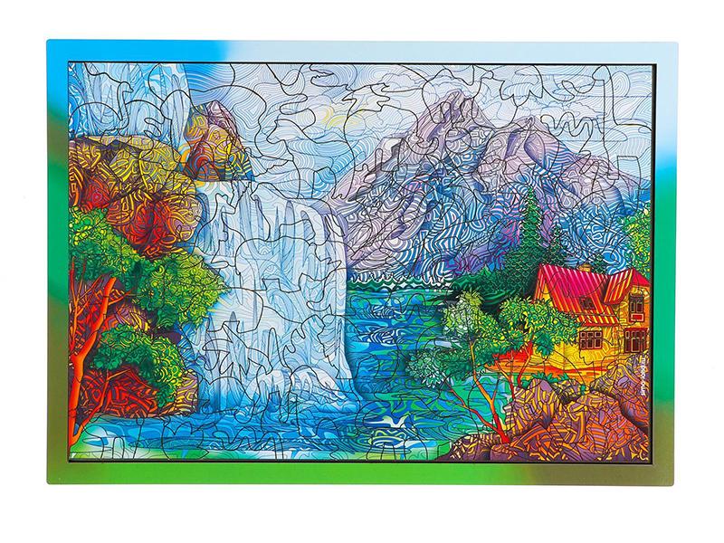 Пазл Puzzle Живописный водопад 6957664