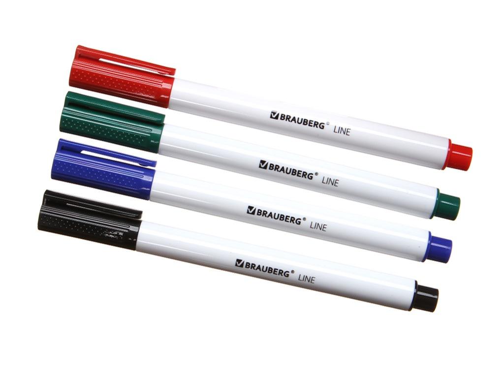 Маркер Brauberg Line 3mm 4 цвета 152119