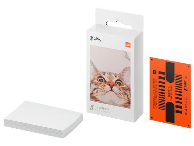 Бумага Xiaomi Mi Portable Photo Printer Paper 2x3-inch 20 листов TEJ4019GL