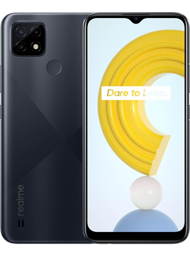 Сотовый телефон Realme C21 3/32Gb Black & Wireless Headphones Выгодный набор + серт. 200Р!!!