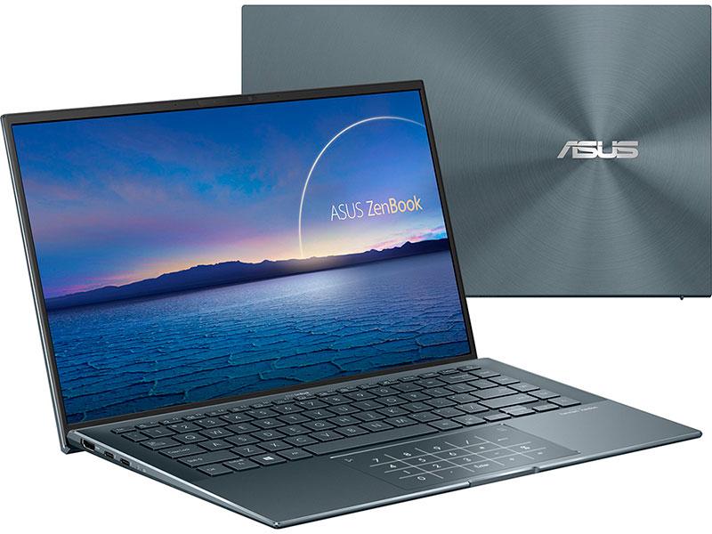 Ноутбук Asus ZenBook 14 UX435EG-K9257T 90NB0SI7-M06090 (Intel Core i5 1135G7 2.4GHz/16384Mb/512Gb SSD/NVIDIA GeForce MX450 2048Mb/Wi-Fi/Bluetooth/Cam/14/1920x1080/Windows 10)