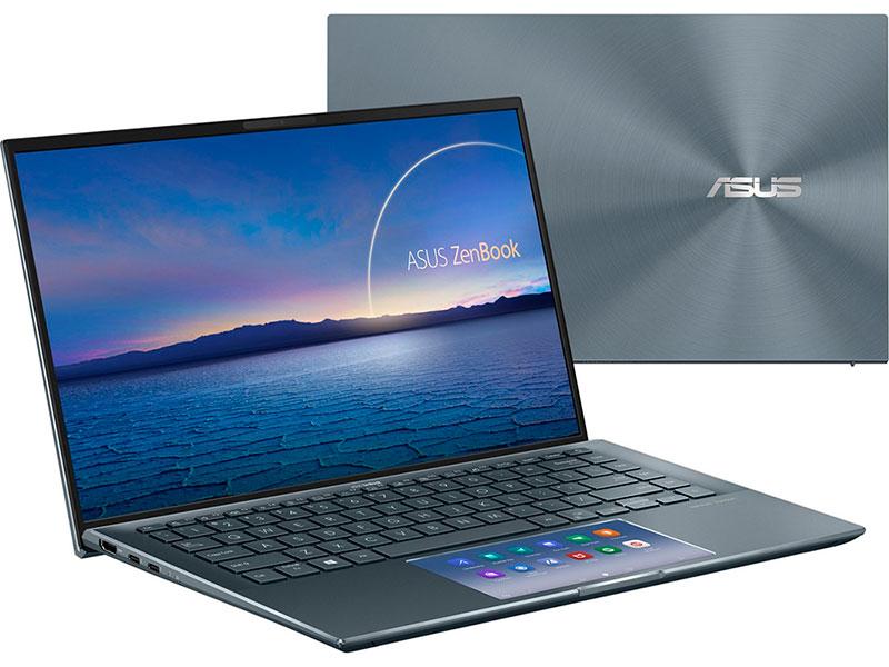 Ноутбук Asus ZenBook 14 UX435EG-K9175T 90NB0SI1-M04390 (Intel Core i7 1165G7 2.8GHz/16384Mb/1024Gb SSD/NVIDIA GeForce MX450 2048Mb/Wi-Fi/Bluetooth/Cam/14/1920x1080/Windows 10)