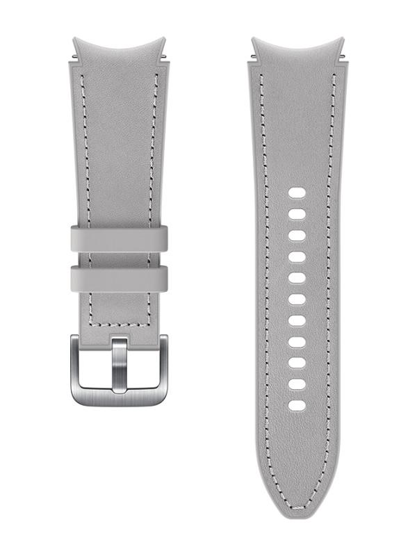 Aксессуар Ремешок для Samsung Galaxy Watch 4 Classic / Hybrid Leather S/M Silver ET-SHR88SSEGRU