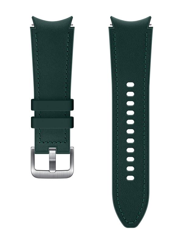 Aксессуар Ремешок для Samsung Galaxy Watch 4 Classic / Hybrid Leather S/M Green ET-SHR88SGEGRU