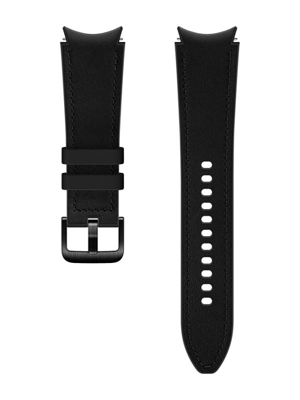 Aксессуар Ремешок для Samsung Galaxy Watch 4 Classic / Hybrid Leather M/L Black ET-SHR89LBEGRU
