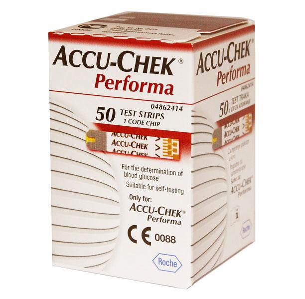 тест полоски для глюкометра bionime gs300 купить Тест-полоски Accu-Chek Performa 50шт