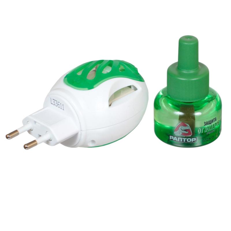прибор для нитратов купить Средство защиты от комаров РАПТОР TURBO прибор+жидкость 40 ночей