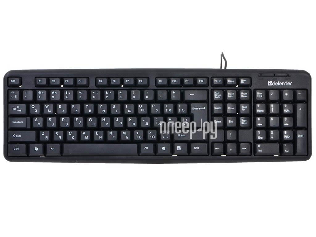 Клавиатура Defender Element HB-520 USB Black 45522[Перейти в каталог этих товаров]