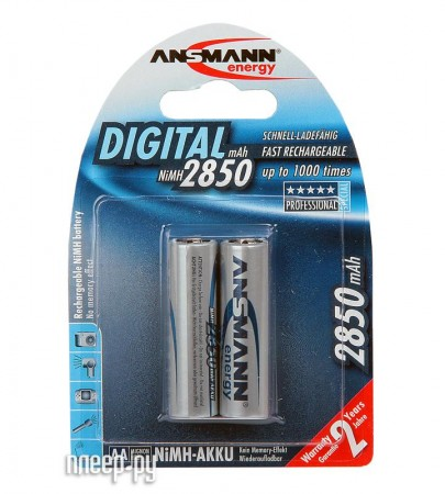 Аккумулятор AA - Ansmann R06 2850 mAh Ni-MH Digital (2 штуки) 5035082