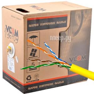 Сетевой кабель VCOM UTP CAT5e 4 пары 305m Yellow VNC1100-YE