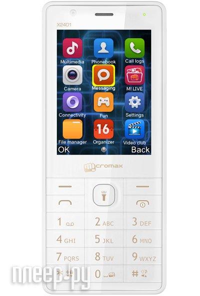 Сотовый телефон Micromax X2401 White Champagne