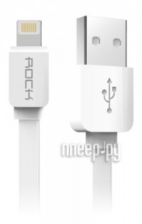Аксессуар Rock Flat USB - Lightning 1m White