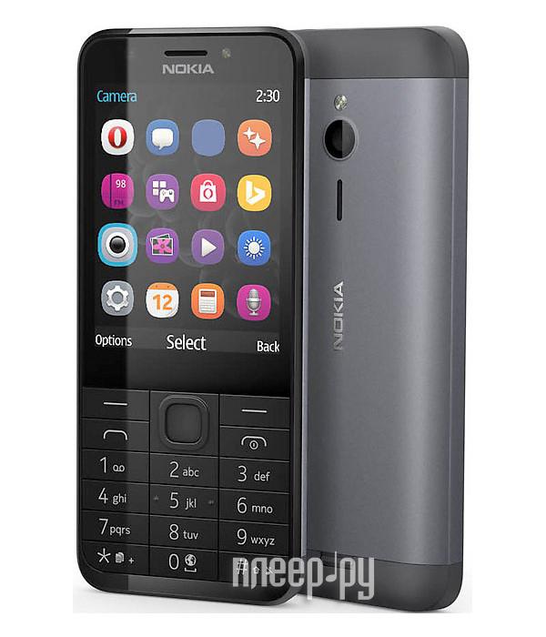 Сотовый телефон Nokia 230 Dual Sim Black Silver 65daba2642fcc