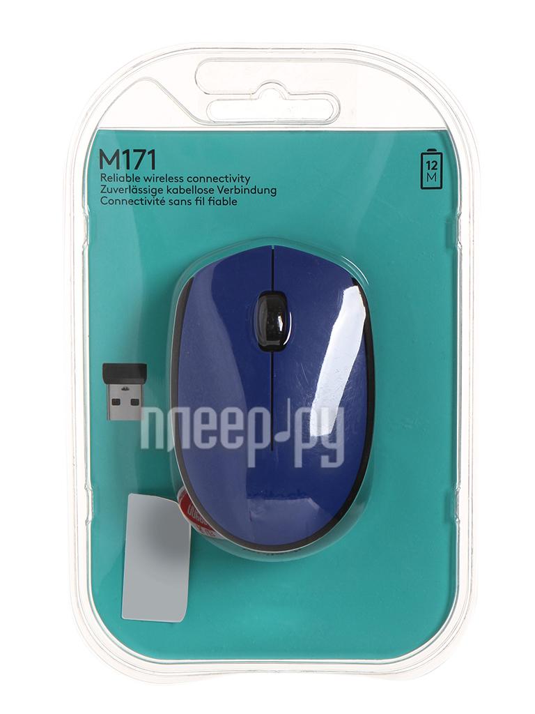 Мышь Logitech M171 Wireless Blue-Black 910-004640