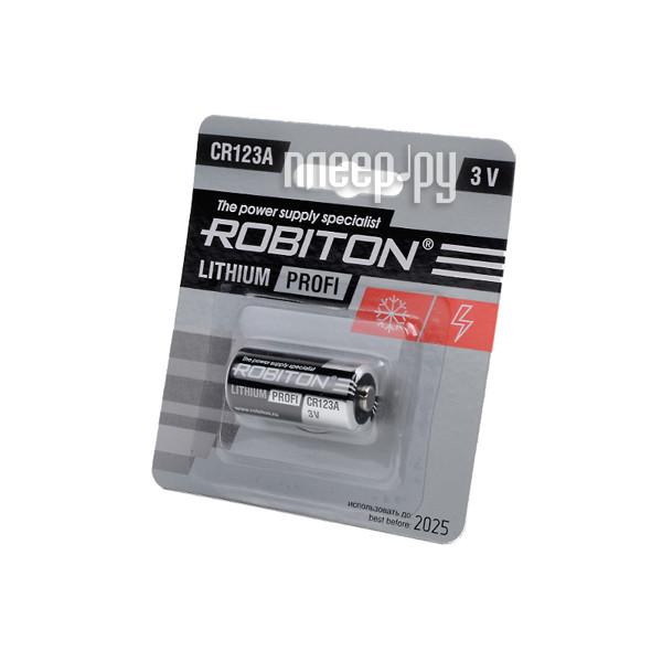 Батарейка CR123A - Robiton Profi R-CR123A-BL1 13263