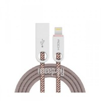 Аксессуар Rock USB to Lightning Cobblestone Charge & Sync Round Cable Light Coffee RCB0431