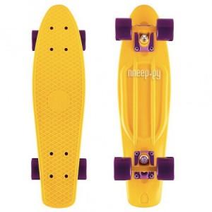Скейт Y-Scoo Fishskateboard 22 Yellow-Dark Purple 401-Y