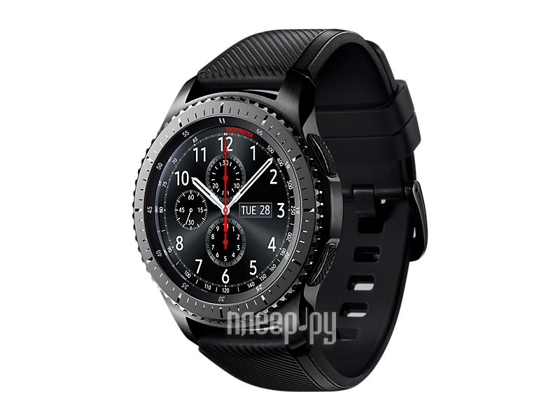 Купить Samsung Gear S3 Frontier SM-R760NDAASER Dark Grey по низкой ... 5e8dd7fafccd7