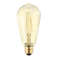 Фото In Home LED-ST64-deco E27 7W 3000K 230V 630Lm Gold 4690612008097