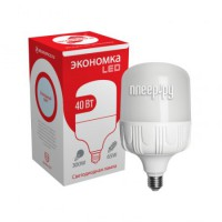 Фото Экономка LED E27 40W 220V 6500K 3500Lm Cold Light Eco40wHWLEDE2765
