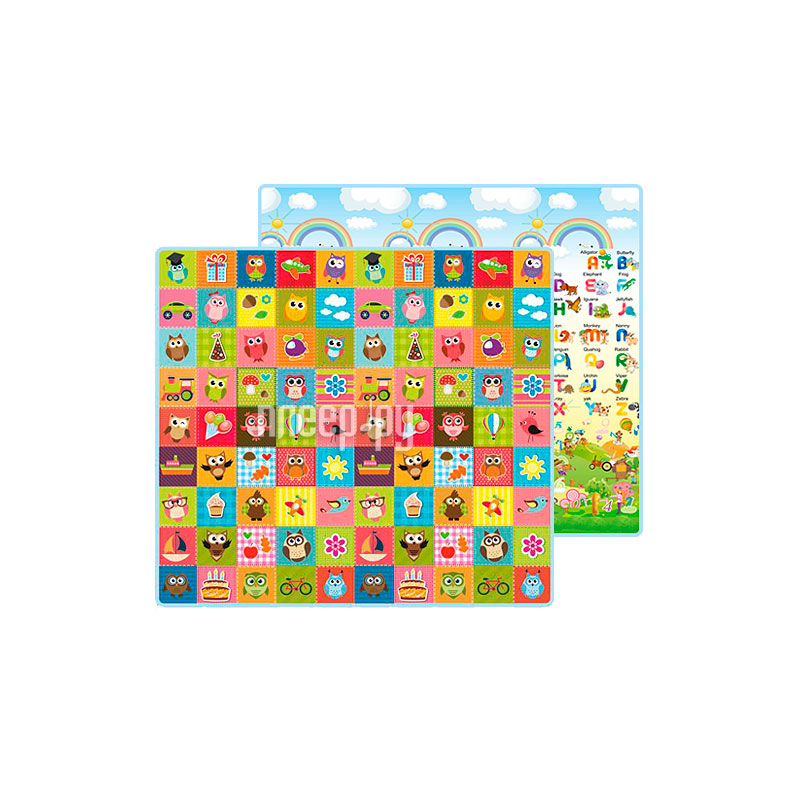 415307ef74ba Развивающий коврик Mambobaby Совята + Английский алфавит 021ТМ