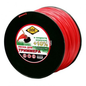 Леска для триммера DDE Speed Line 2.4mm x 346m Red 644-948