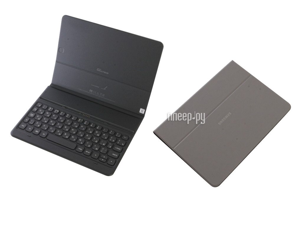 reputable site b3b99 5a86d Аксессуар Чехол для Samsung Galaxy Tab S3 9.7 Book Cover Keyboard Grey  EJ-FT820BSRGRU