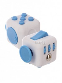Игрушка антистресс Fidget Cube Original White-Light Blue