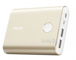 Аккумулятор Anker PowerCore+ 13400 mAh with Quick Charge 3.0 A1316HB1 Gold 906991