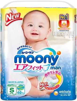 Купить Moony S 4-8кг 62шт 4903111-284368 по низкой цене в Москве d05e1a4395d