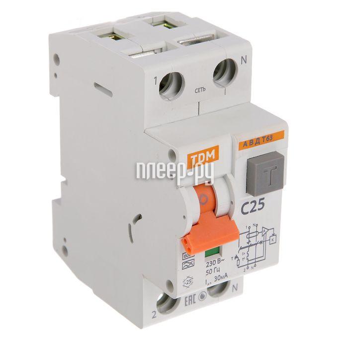 Дифференциальный автомат TDM-Electric АВДТ 63 4P C16 30мА SQ0202-0017 - фото 2