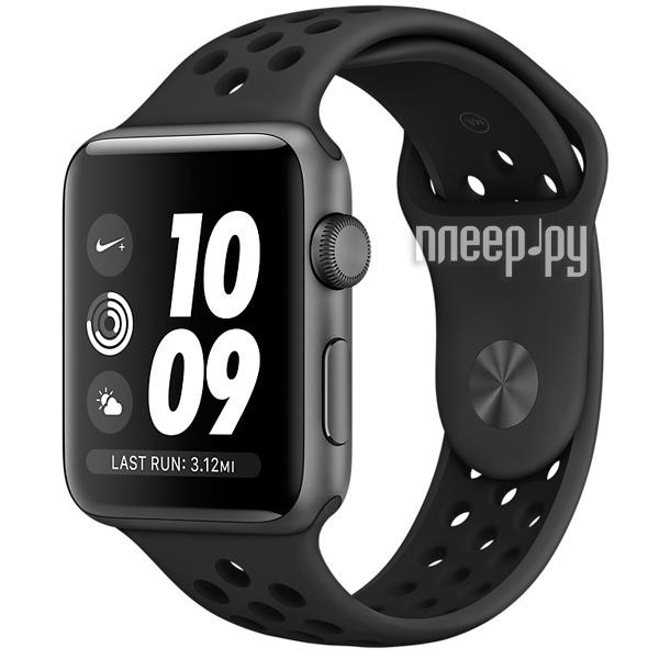 Умные часы APPLE Watch Series 3 Nike+ 38mm Aluminium Space Gray Sports  Strap Anthracite-Black 39150d95bed