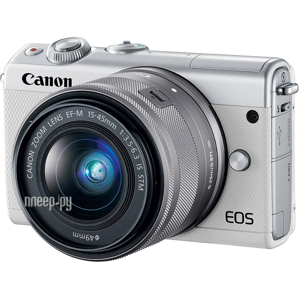 Купить Canon EOS M100 Kit EF-M 15-45 IS STM White по низкой цене в ... eb920e993d6
