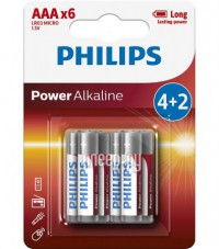 Фото AAA Philips LR03P6BP/10 (6 штук)