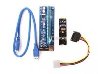 Фото Адаптер Espada M2 to PCI-e x16 4pin USB Riser card M2PCIeKIt01