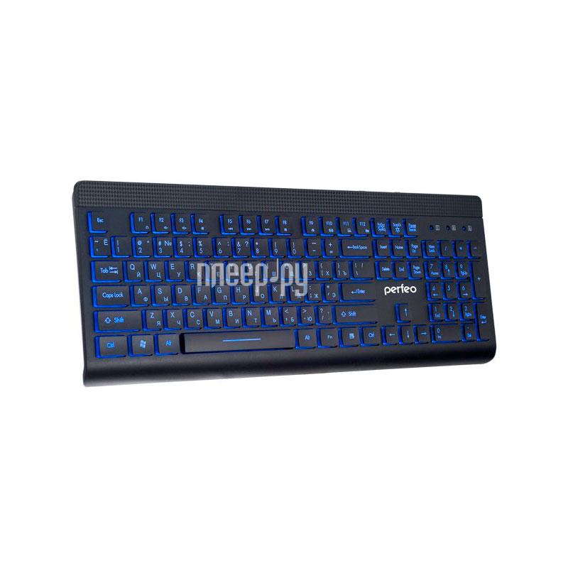 Клавиатура Perfeo Backlight Black PF-843[Перейти в каталог этих товаров]
