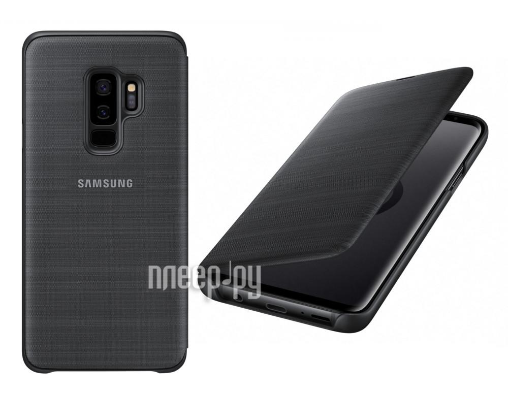 super popular de41c 34999 Аксессуар Чехол-книжка Samsung Galaxy S9 Plus LED View Cover Black  EF-NG965PBEGRU
